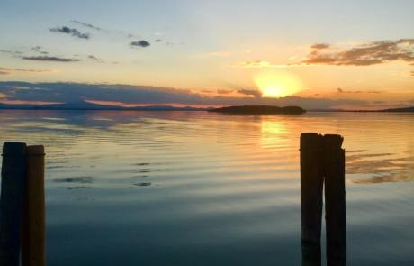 Isola Maggiore al tramonto vista da Passignano
