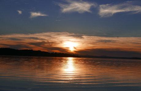 La Via del Trasimeno prima tappa San Savino tramonto