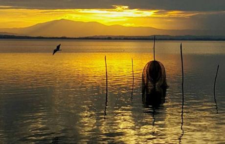 La Via del Trasimeno reti dei pescatori